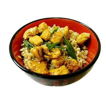 Рис с курицей и чесноком