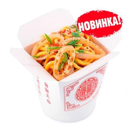Лапша Wok - Кальмары в соусе по-сычуански