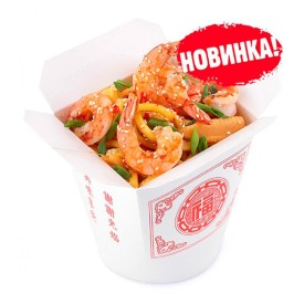 Лапша Wok - Креветки с овощами