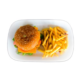 """Детский Бургер """"Chiken"""" + картофель на выбор"""